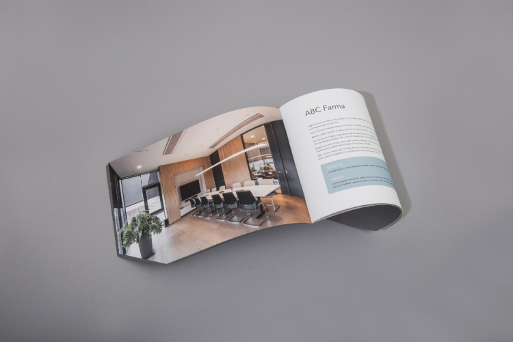 ABC farma saddle stitched brochure KOPA printing
